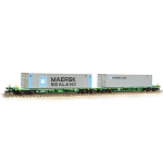 377-369 Farish FIA Intermodal Bogie Wagons 'Maersk line' 45ft Containers